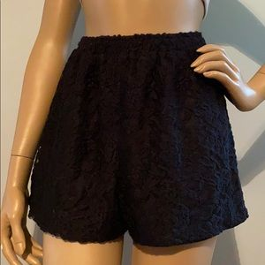 NWT Abercrombie and Fitch Black Lace Shorts